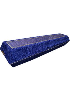Красивый синий гроб